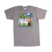 Grey Unisex Green Stables T-Shirt