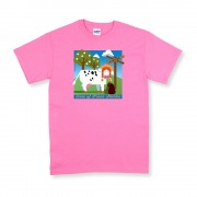 Pink Unisex Green Stables T-Shirt