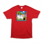 Red Unisex Green Stables T-Shirt