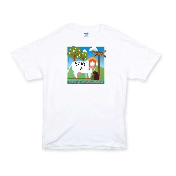 White Unisex Green Stables T-Shirt
