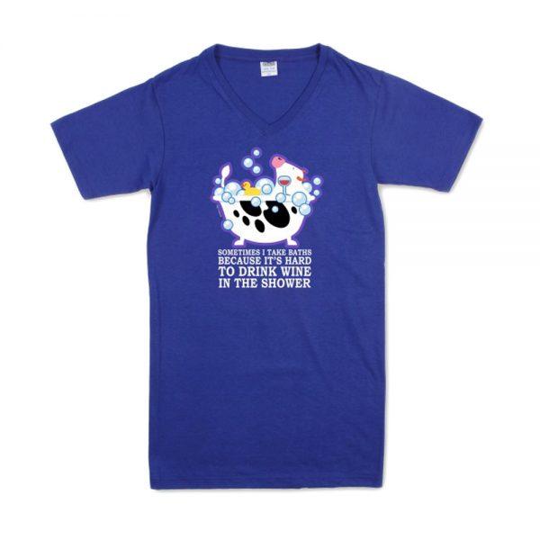 Blue Women's Bubbles T-Nightshirt