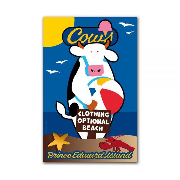 COWS Clothing Optional Postcard