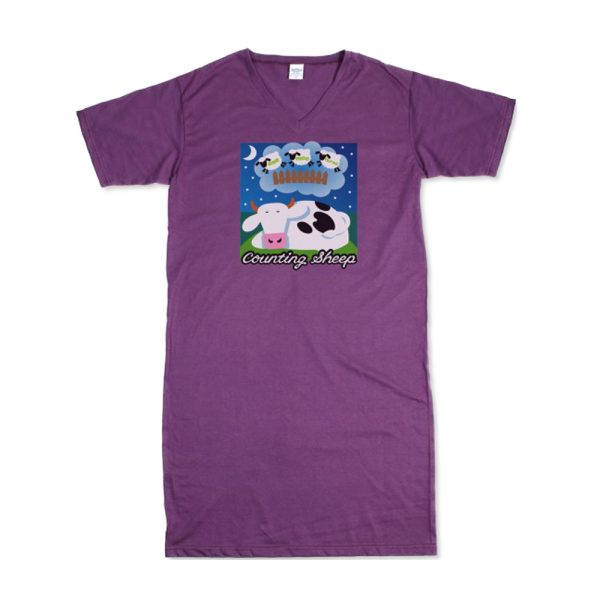Purple Women's Counting Sheep T-Nightshirt