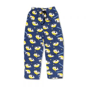 Navy Unisex Cow Nap PJ Pants