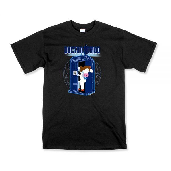 Black Unisex Dr. Moo T-Shirt