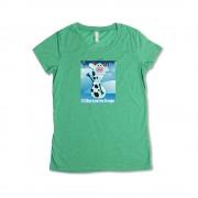 Green Girl's Frozen Mini T-Shirt
