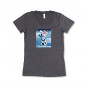 Grey Girl's Frozen Mini T-Shirt