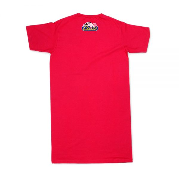Red Women's Hit The Hay T-Nightshirt Back