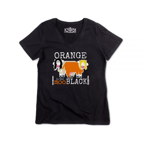 Black Women's Orangemoo V-Neck