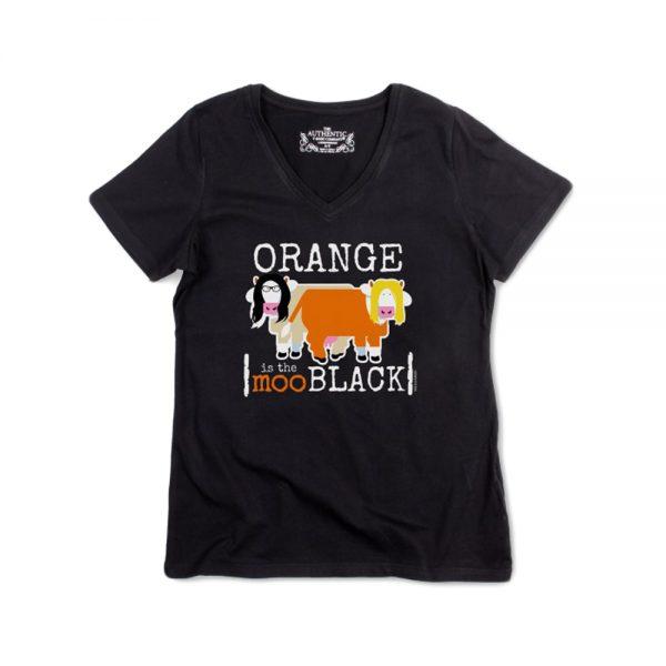 Black Women's Orangemoo V-Neck