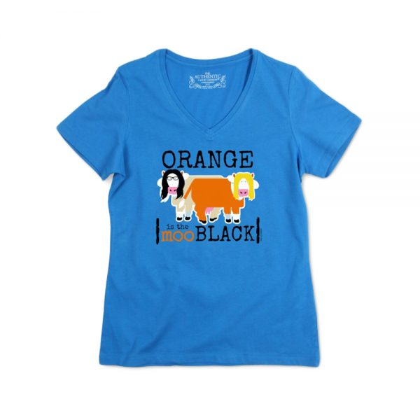 Blue Women's Orangemoo V-Neck