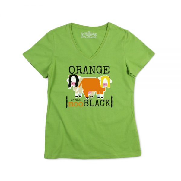 Green Women's Orangemoo V-Neck