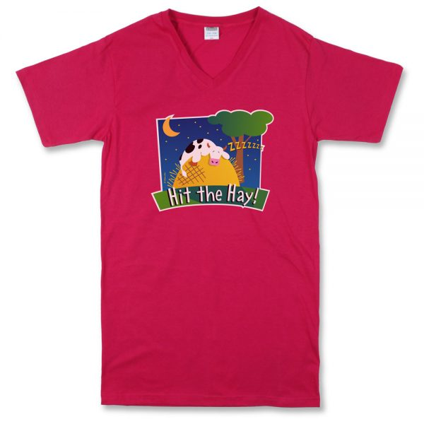 Hit The Hay Night Shirt Sangria