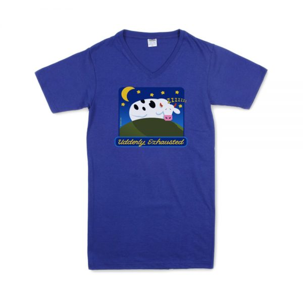 Blue Women's Udderly Exhausted T-Nightshirt