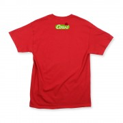 Red Unisex Curling Cow T-Shirt Back