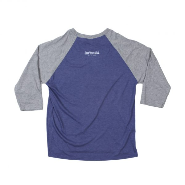 Purple Unisex Cows Baseball T-shirt  Back