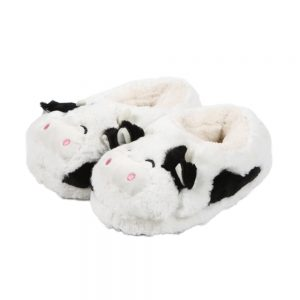 White Cow Slippers