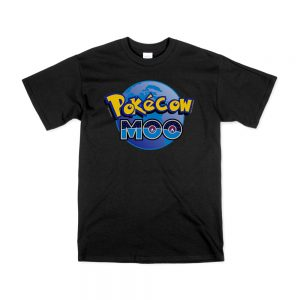 Black Pokecow Moo T-Shirt