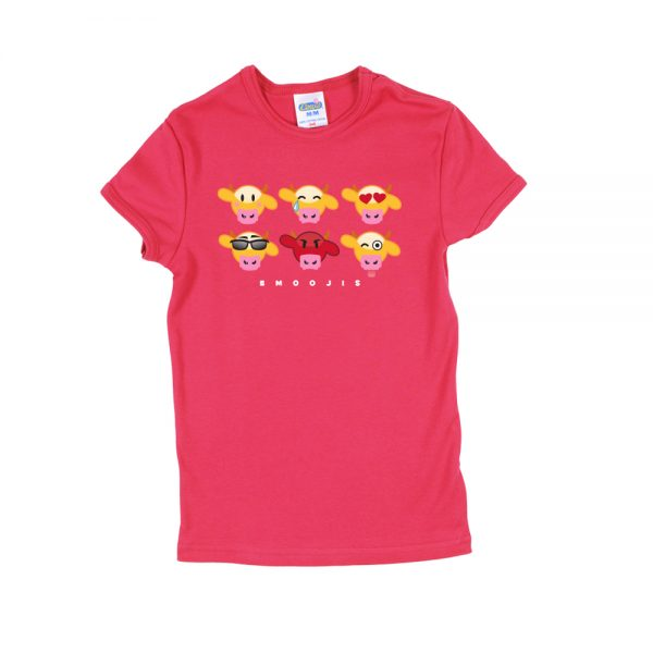 Pink Emooji Girly T-Shirt