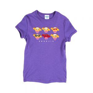Purple Emooji Girly T-Shirt