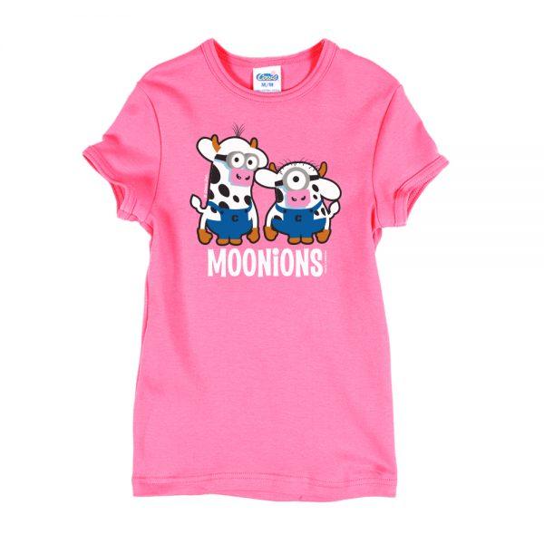 Pink Moonions Girly T-Shirt