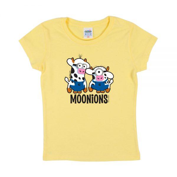 Yellow Moonions Girly T-Shirt