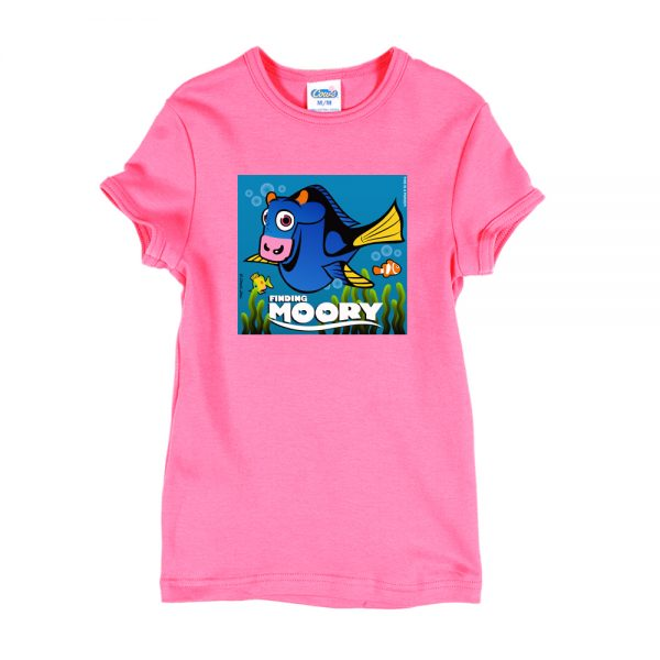 Pink Finding Moory Girly T-Shirt