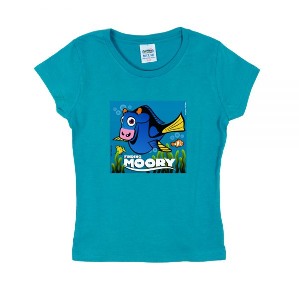 Blue Finding Moory Girly T-Shirt