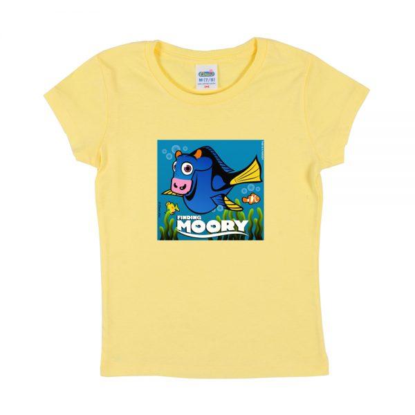 Yellow Finding Moory Girly T-Shirt