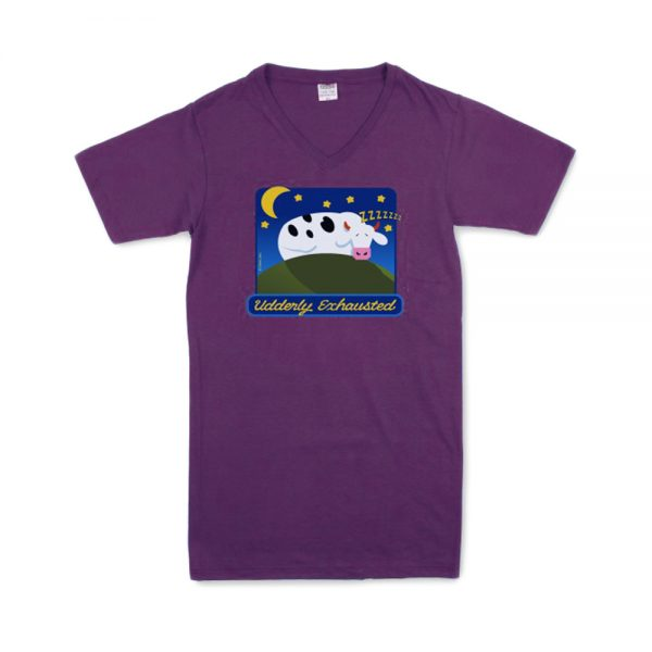 Purple Udderly Exhausted T Night Shirt