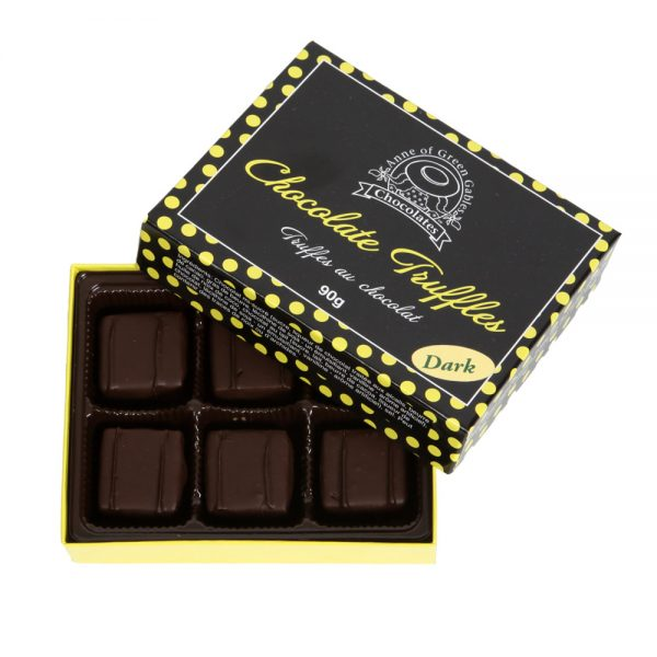 dark chocolates truffles small