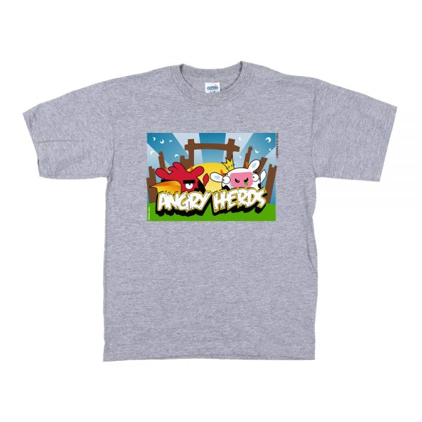 Grey Angry Herds T-Shirt