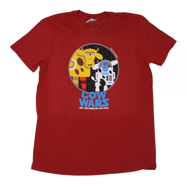 COW Wars Droids Adult T Red