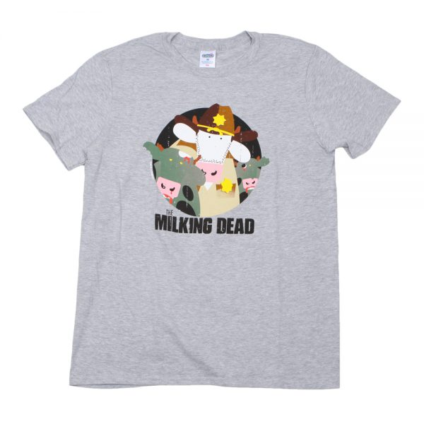 Grey Milking Dead T-Shirt