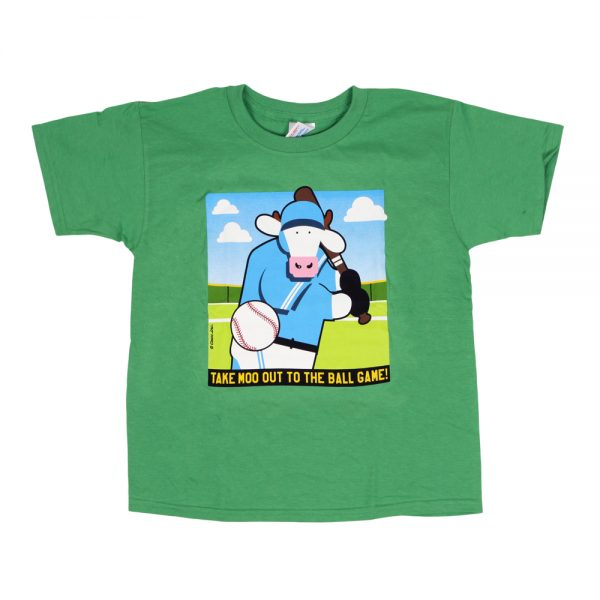 Baseball Cow T Green