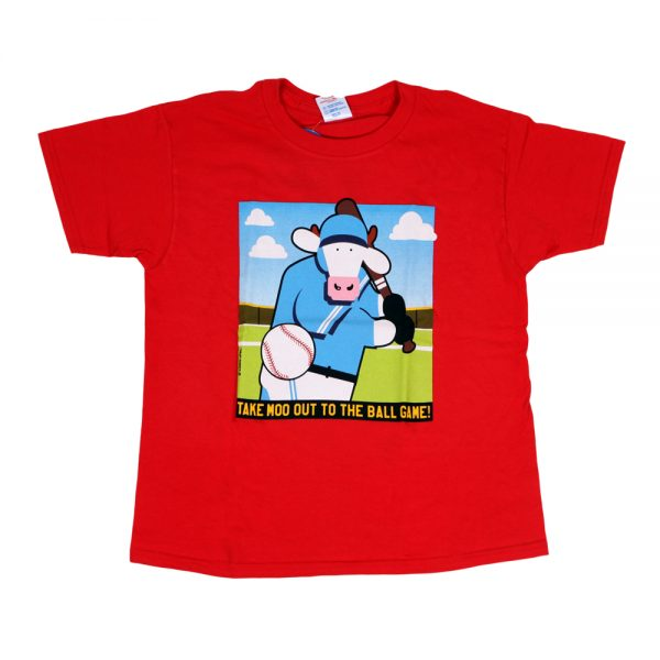 Baseball Cow T Red