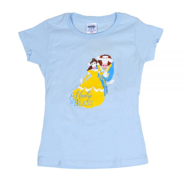 Mooty & The Beast Girly T Blue