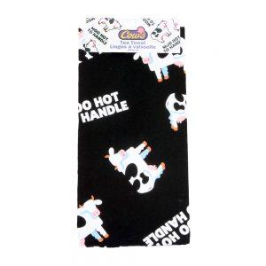 Moo Hot To Handle Tea Towel