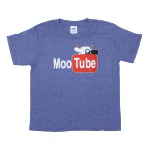 COWS MOOtube Parody Youth T - Blue