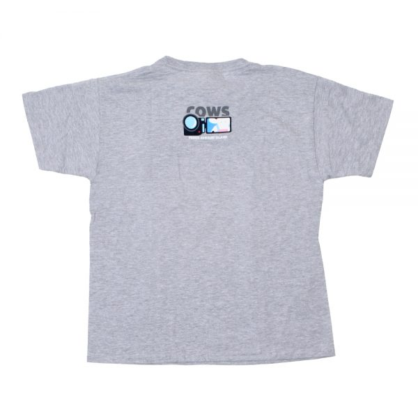 MooTube Youth T Grey Back