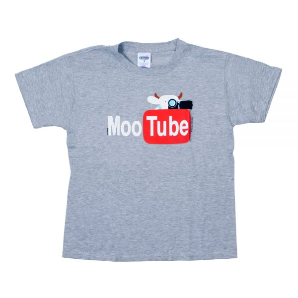 MooTube Youth T Grey Front