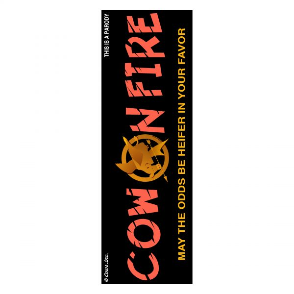 Cow On Fire Bookmark