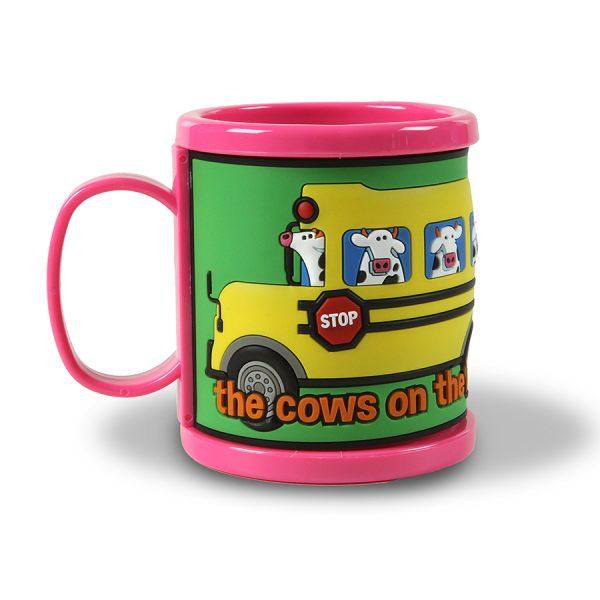 Bus Mug Pink - Back