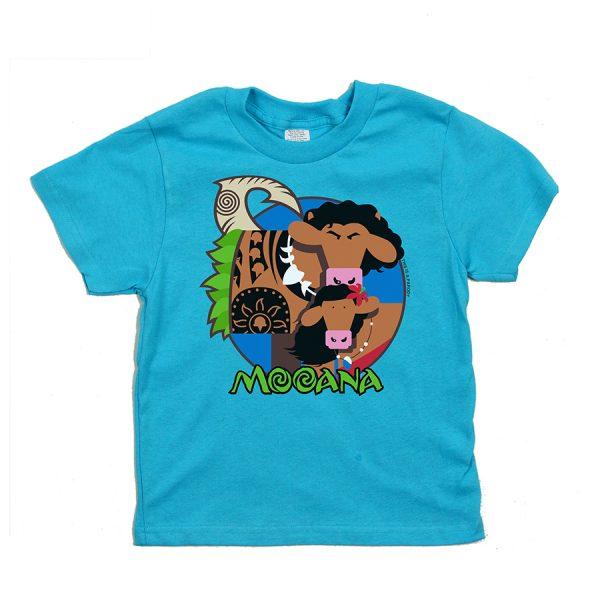 Mooana Kids T Aqua Front