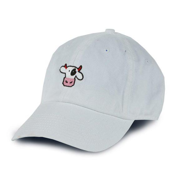 Dad Cap White Cow