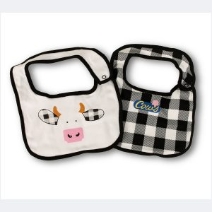 2 Baby Bibs from COWS