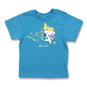 Cows Moomaid Kids T Blue