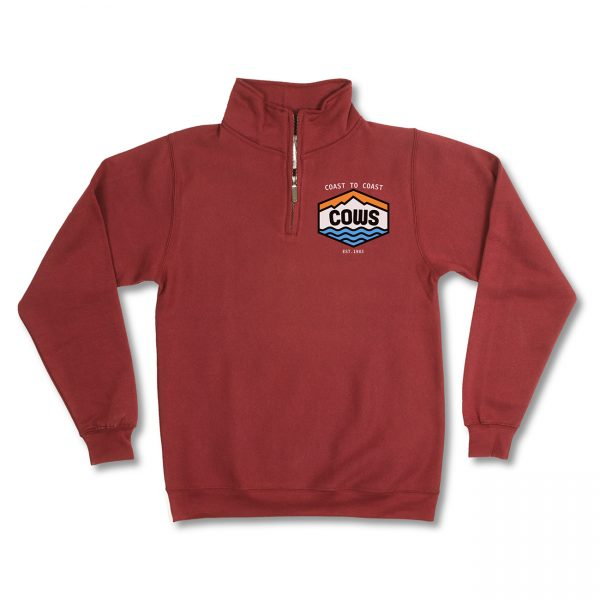 COWS Coast to Coast Burgundy Quarter Zip