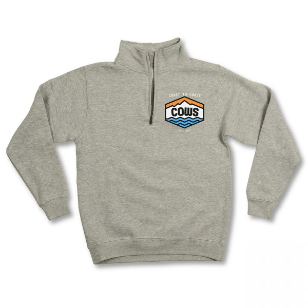 COWS Coast to Coast Quarter Zip Grey