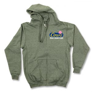 COWS Logo Full Zip, Green